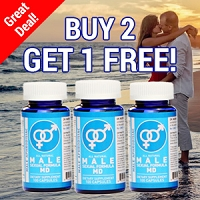 Buy 2 Get 1 Free - All Natural Male Sexual Formula MD