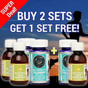 Buy 2 Sets Get 1 Set Free - Telemorx® Plus and Organic Liquid Colostrum - Free Shipping!