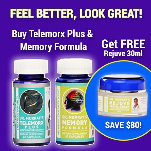 Buy Telemorx Plus and Memory Formula - Get FREE Rejuve 30ml