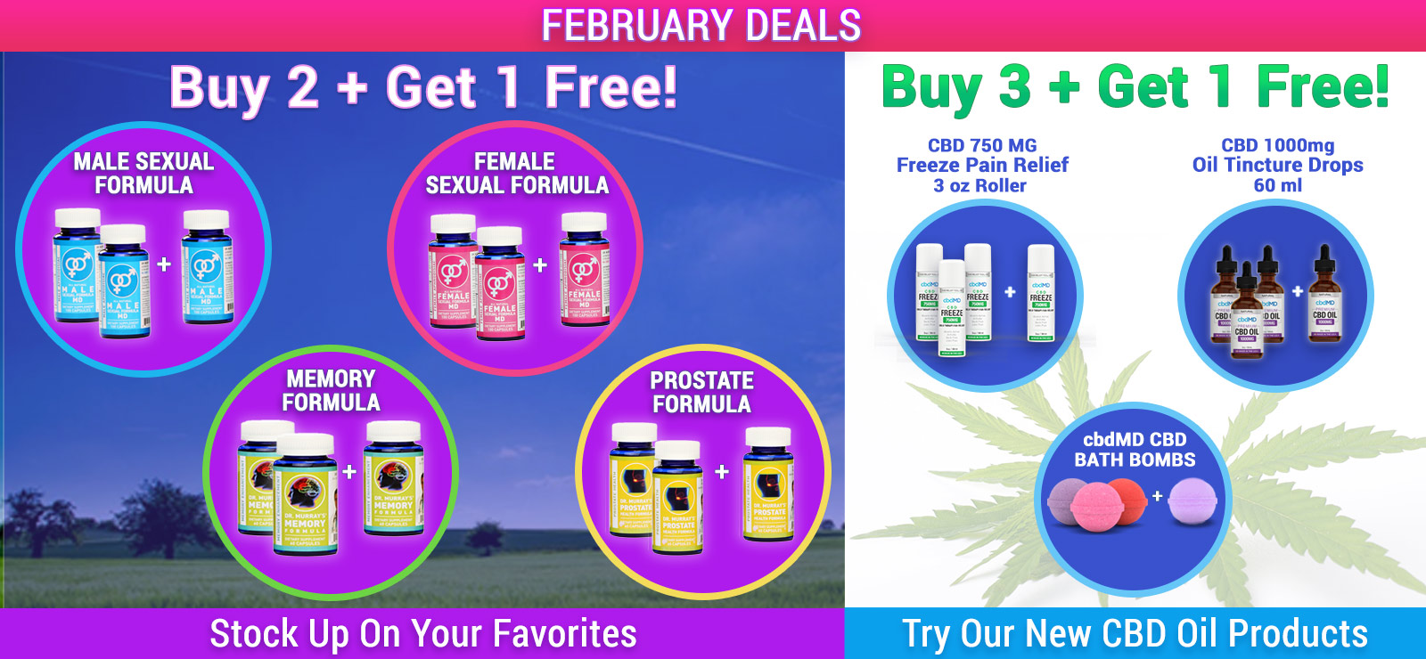 Save on your favorite Dr. Murray's products with Dr. Murray's Deals! Check this page often, we're always adding new specials, promotions and discounts.