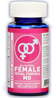Dr. Murray's Female Sexual Formula MD is an all natural aphrodisiac specially formulated to help women have more frequent and satisfying sex.