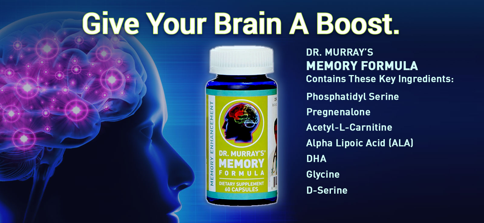 Boost your brain function with Dr. Murray's Memory Enhancement Formula