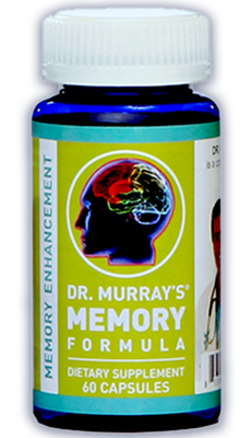 Dr. Murray's Memory Formula capsules to enhance your memory and brain function.
