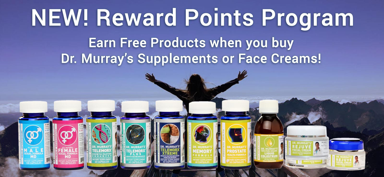 Start earning reward points today on Dr. Murray's Online when you buy our supplements and face creams!