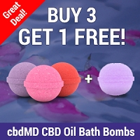Buy 3 Get 1 Free cbdMD Bath Bombs
