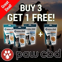 Buy 3 - Get 1 Free - cbdMD paw cbd Dog Treats