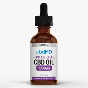 cbdMD CBD Oil Tincture Drops - 60 ml – 1000mg – Flavor: Natural